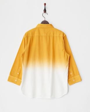 マスタード ボタンダウングラデーションカラーシャツ見る