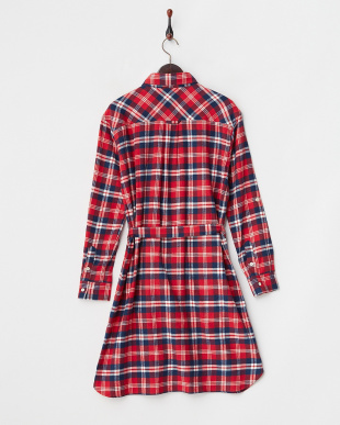 RED  FLANNEL PLAID GOWN DRESS見る