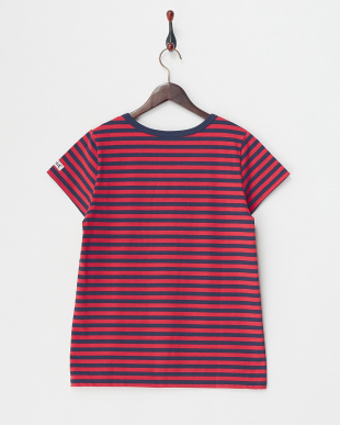 RED  BASIC STRIPED S/S TOP見る