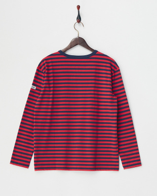 RED  BASIC STRIPED L/S TOP見る