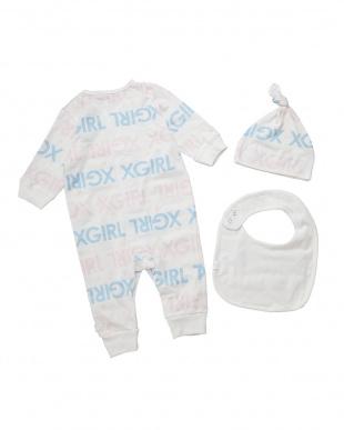 WHITE  XGS BABY 3-PIECE SET LOGO見る