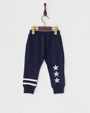 NAVY  SWEAT LONG PANTS STRIPE & STAR|BABY見る