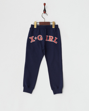 NAVY  SWEAT LONG PANT BACK LOGO|KIDS見る