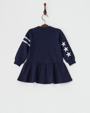 NAVY  CREWNECK DRESS STRIPE & STAR|BABY見る