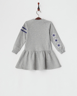 ASH CREWNECK DRESS STRIPE & STAR|KIDS見る