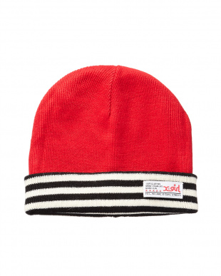 RED  REVERSIBLE KNIT CAP見る