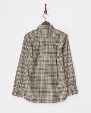 KHAKI  Tailored Fit チェック柄 ストレッチボタンダウンシャツ A見る