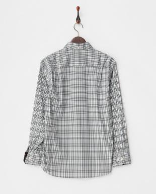 WHITE  Tailored Fit チェック柄 ストレッチボタンダウンシャツ A見る