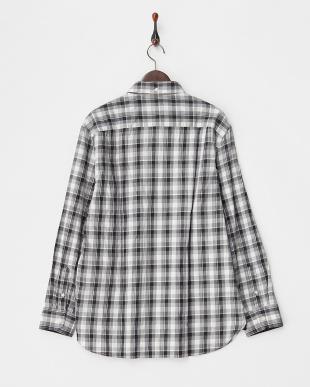 GRAY Tailored Fit チェック柄 ストレッチボタンダウンシャツ B見る