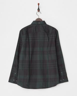 GREEN Tailored Fit チェック柄 ストレッチボタンダウンシャツ C見る