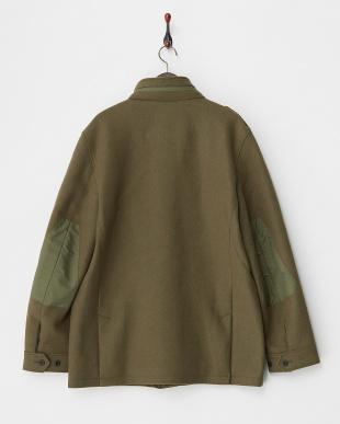 OLD GREEN  MODULAR LINER SYSTEM ミリタリー調 紡毛ジャケット見る