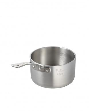 ガス専用 極厚アルミ片手鍋(18cm)見る