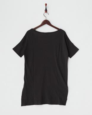 ブラック  ハイゲージスウェットロングTシャツ見る