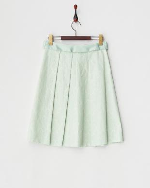 グリーン ダマスクジャカードスカート見る