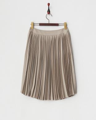 グレージュ  サミアプリーツスカート見る