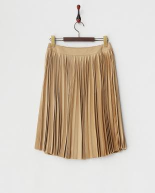 ベージュ  サミアプリーツスカート見る