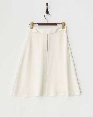 ホワイト  タックフレアスカート見る