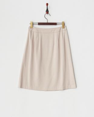 ヌードベージュ インバーティドプリーツスカート見る