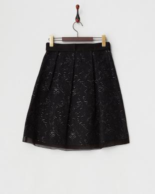 ブラック  ラメエッジJQスカート見る