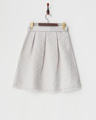 グレー  ラメエッジJQスカート見る