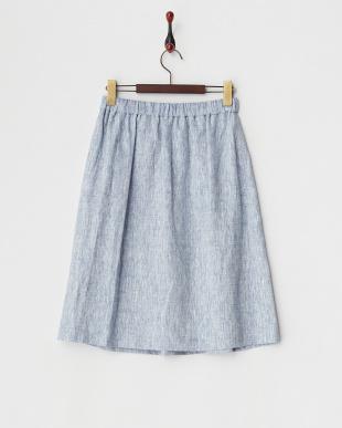 ブルー HEMPスカート見る
