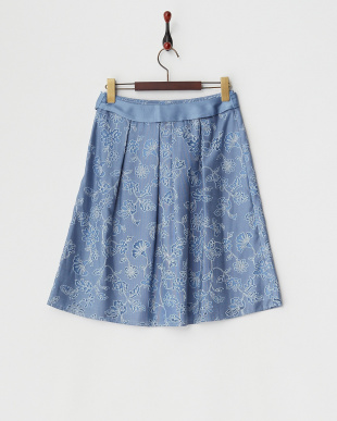 ブルー サラサオパールスカート見る