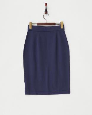ブルー ドライコットンハイゲージスカート見る