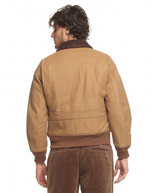 CAMEL ボア衿N-1ジャケット見る