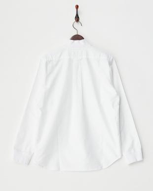 WHITE オックフォードリブ付きシャツ見る