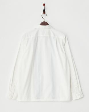 WHITE×BLUE  開襟シャツ見る