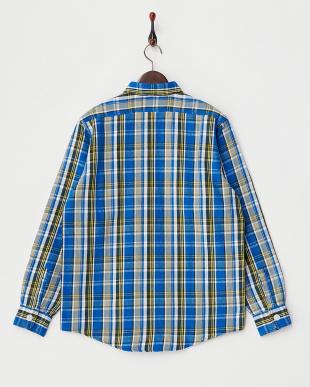 BLUE  コットンネルシャツ見る