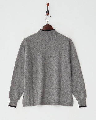 グレー/ブラック  カシミヤ100%ラインストーンキャットセーター見る