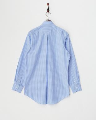 ブルー チェックシャツ A見る
