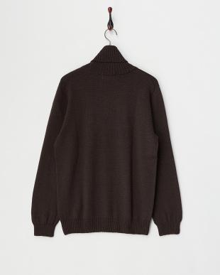 ブラウン  Baruffa タートルネックセーター見る