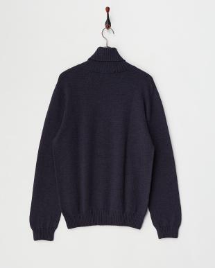 ネイビー  Baruffa タートルネックセーター見る