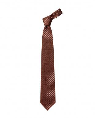 ブラウン/ボルドー シルク混ネクタイ2本セット見る