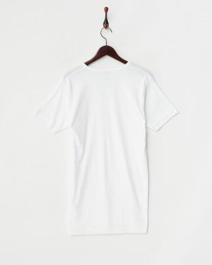 ホワイト GOLD 綿100% V首半袖Tシャツ LL見る