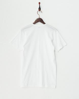 ホワイト 脇汗シミ防止 22cmVネックTシャツ見る