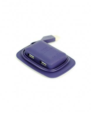 パープル  USBポートGALAXY HUB見る