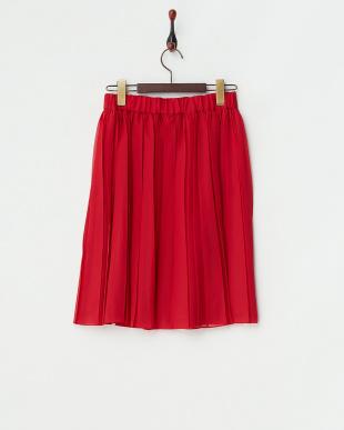 レッド  シフォンスカート見る