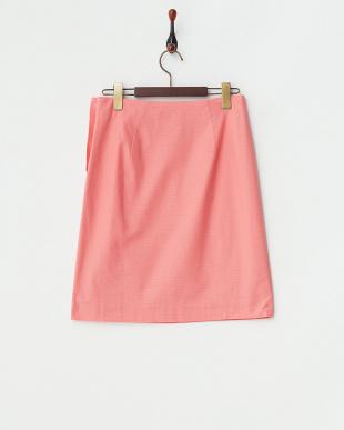 ピンク  リンクス風ピケスカート見る