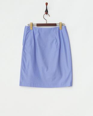 ブルー  リンクス風ピケスカート見る