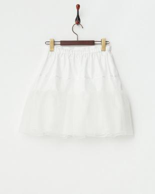 ホワイト パニエスカート見る