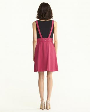 チェリーピンク サスペンダーグログランスカート見る