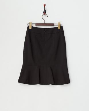 クロ 裾フリル エコペットT/Wストライプストレッチスカート見る