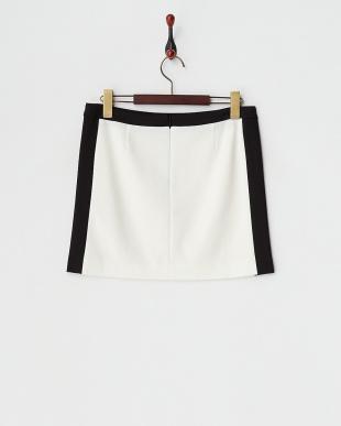 クロ  キュプラモダールポンチ配色タテハギタイトスカート見る