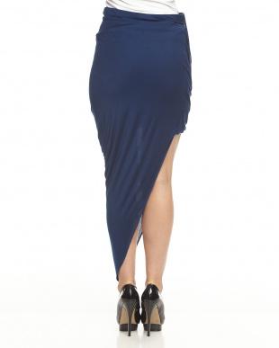 blue KINETICジャージー アシメラップスカート見る