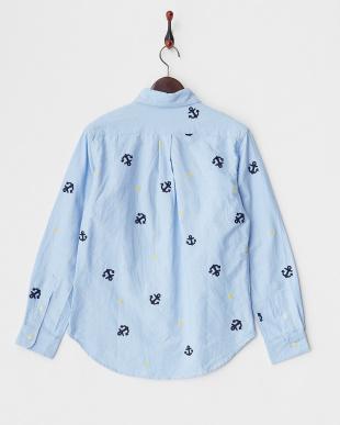 SAX  総柄刺繍OXシャツ見る