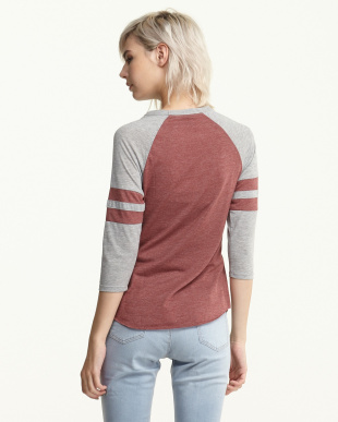 BURGUNDY RAGLAN TOP ロンT見る