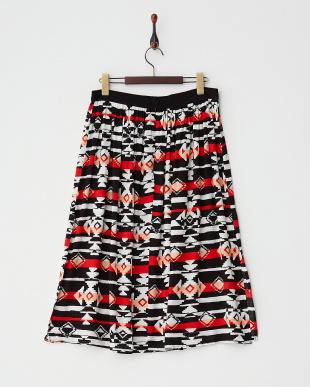 BLACK CBL:IKAT SPLICE MIDI スカート見る